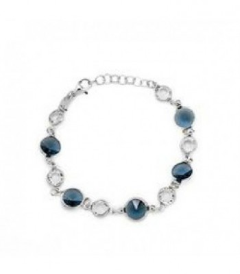 PULSERA CRYSTAL DENIM BLUE