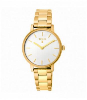 Reloj Rond Straight de acero IP dorado