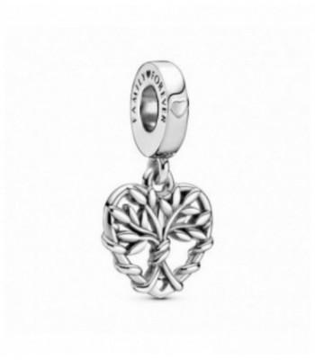 Charm colgante en plata de ley Corazón Árbol de la Vida